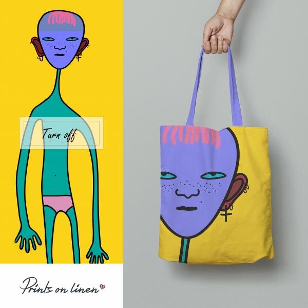 Tote bag / Turn off (blue)