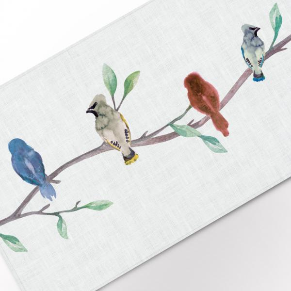 "Table runner ""Birds II"""