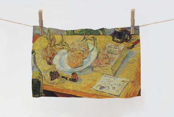 Towel / Still Life with Drawing Board, Pipe, Onions...
